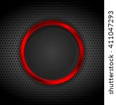 Bright Red Ring On Perforated...