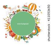 vector illustration of dreams... | Shutterstock .eps vector #411053650