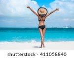 summer vacation happiness...   Shutterstock . vector #411058840