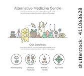 alternative medicine centre... | Shutterstock .eps vector #411063628