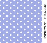 purple seamless polka dots...   Shutterstock .eps vector #411068830