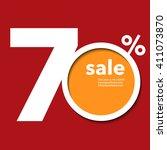 modern template shop 70  sale... | Shutterstock .eps vector #411073870