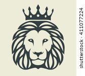 graphic illustration of a lion...