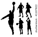 silhouette basketball player | Shutterstock .eps vector #41107822