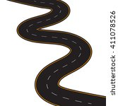 vector illustration of winding... | Shutterstock .eps vector #411078526