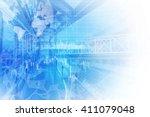 finance technology  fintech ...   Shutterstock . vector #411079048