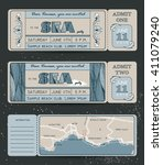summer invitation template.... | Shutterstock .eps vector #411079240