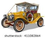 vintage car   Shutterstock .eps vector #411082864