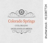 colorado springs colorado... | Shutterstock .eps vector #411087724