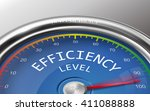 efficiency level conceptual 3d...   Shutterstock .eps vector #411088888