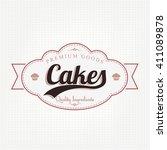 vintage bakery label | Shutterstock .eps vector #411089878