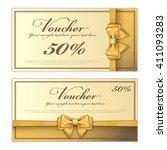 gift voucher template with a... | Shutterstock .eps vector #411093283