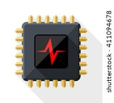 cpu or processor test simple... | Shutterstock .eps vector #411094678