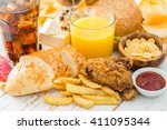 selection of food that is bad... | Shutterstock . vector #411095344