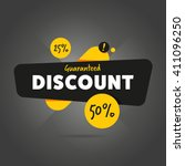 discount tag with special offer ... | Shutterstock .eps vector #411096250