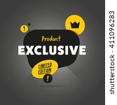 exclusive product. dark... | Shutterstock .eps vector #411096283