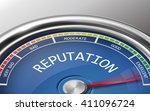 reputation conceptual 3d... | Shutterstock .eps vector #411096724
