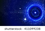 tech composition | Shutterstock .eps vector #411099238