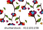 floral pattern to fit the needs ... | Shutterstock .eps vector #411101158