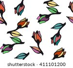 floral pattern to fit the needs ... | Shutterstock .eps vector #411101200
