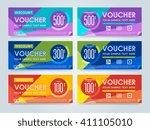 gift voucher template with a... | Shutterstock .eps vector #411105010