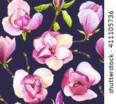 spring seamless illustration... | Shutterstock . vector #411105736