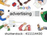 advertising campaign promote... | Shutterstock . vector #411114430