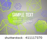 colorful abstract geometric... | Shutterstock .eps vector #411117370