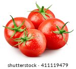 tomato vegetables isolated on... | Shutterstock . vector #411119479