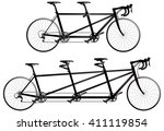 tandem bicycle  twin and...   Shutterstock .eps vector #411119854