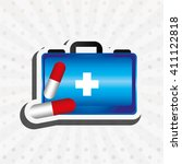 medical healthcare design  | Shutterstock .eps vector #411122818