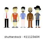 types of men  different... | Shutterstock .eps vector #411123604