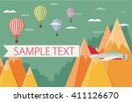 background of hot air balloons  ... | Shutterstock .eps vector #411126670