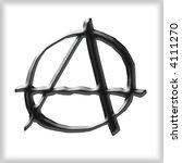 3d anarchy symbol | Shutterstock . vector #4111270