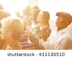 audience applaud clapping... | Shutterstock . vector #411130510
