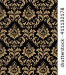floral pattern. wallpaper... | Shutterstock .eps vector #411132178