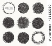 set of hand drawn logo... | Shutterstock .eps vector #411133390