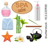 vector spa icons set 3 | Shutterstock .eps vector #411133900