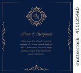 invitation card with monogram.... | Shutterstock .eps vector #411135460