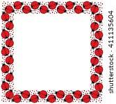 decorative illustrated square... | Shutterstock .eps vector #411135604