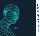 head of the person from a 3d... | Shutterstock .eps vector #411136879