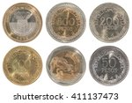 a complete set of new colombian ...   Shutterstock . vector #411137473