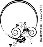 round frame with decorative... | Shutterstock .eps vector #411140674