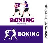 vector logo boxing. logo in the ... | Shutterstock .eps vector #411141886