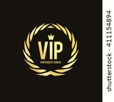 vip logo template. vip club.... | Shutterstock .eps vector #411154894
