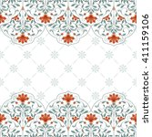 invitation card with floral... | Shutterstock . vector #411159106