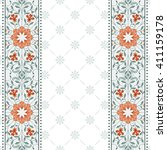 invitation card with floral... | Shutterstock . vector #411159178