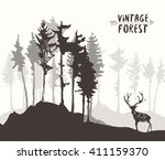 forest background  design... | Shutterstock .eps vector #411159370