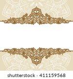 premium gold vintage baroque... | Shutterstock .eps vector #411159568