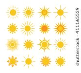 sun icons set. collection light ... | Shutterstock .eps vector #411165529